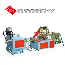 Perforating Bag Making Machine With Labeling Part-T-Shirt Style & Flat Style