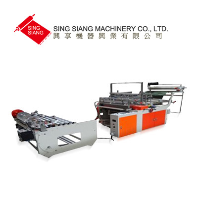 Garment bag perforating on roll making machine