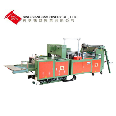 2-Folded T-shirt Style garbage bag making machine &Folding machine