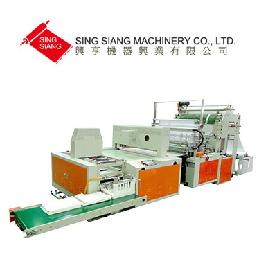 Servo Motor Driven Double Layer Garbage bag making & Folding Machine