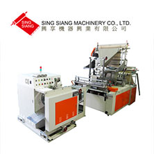Servo Motor Driven Perforating Bag Making Machine with Automatic Rewinding Module