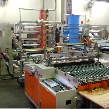 SIDE SEAL MACHINE + FOLDING MACHINE